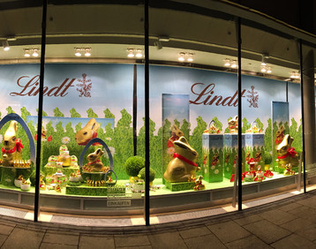 Lindt: exclusive special decorations at the POS